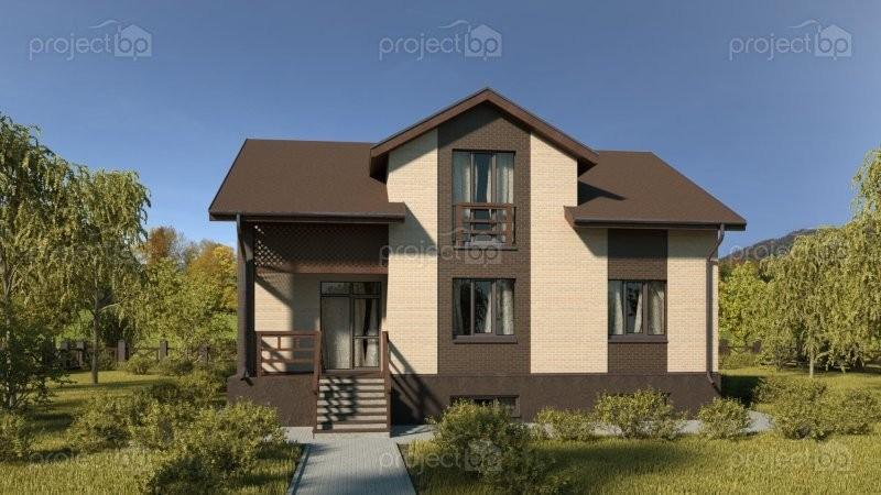 Проект небольшого дома с мансардой и подвалом 222-A